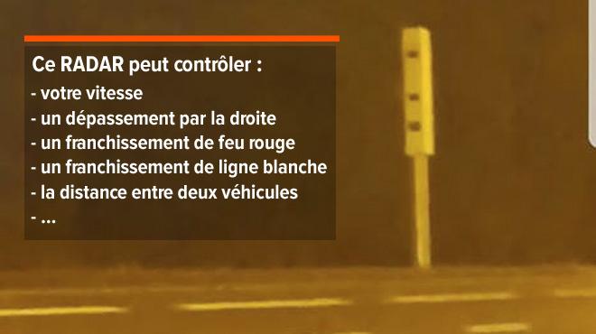 Ce radar installé à Bouge est plus intelligent que vous (mais pour le moment, il ne peut pas vous verbaliser)
