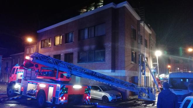 Incendie dans le centre de Dinant: