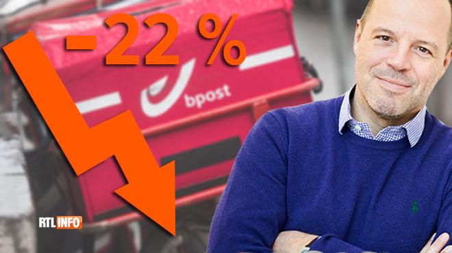Bpost perd 1,4 milliard d'euros de valeur boursière en quelques heures: voici pourquoi