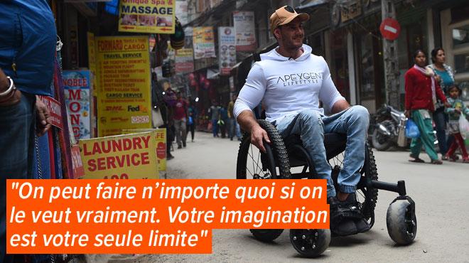 Scott est en fauteuil roulant depuis l'âge de 17 ans et s'apprête à gravir l'Everest