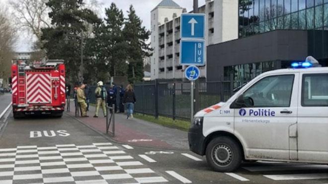 L'école de Nursing de Mons (IESPP) évacuée ce matin