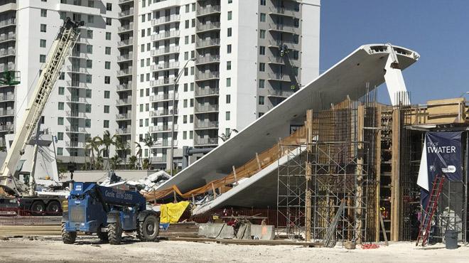 Un pont s'effondre sur une autoroute à Miami et tue 6 personnes: un ingénieur avait averti de fissures sur la structure...