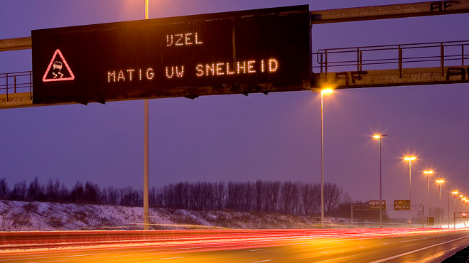Prenez vos précautions: des routes glissantes annoncées dans le sud du pays