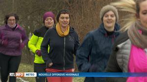 """Malgré ce froid de canard, les sportifs sont de sortie: """"Tout le monde est en forme, ce n'est pas la neige qui va nous arrêter"""""""