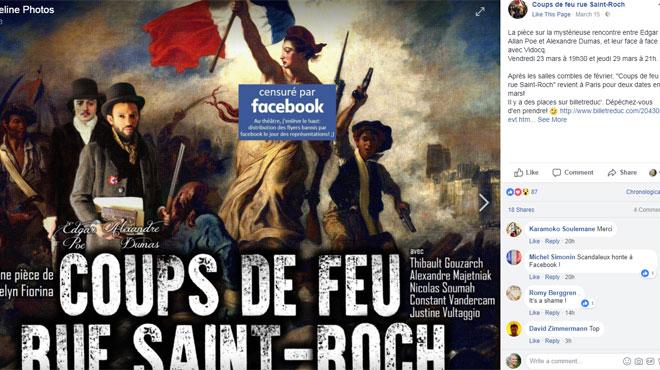 Facebook s'excuse pour la censure de peinture de Delacroix