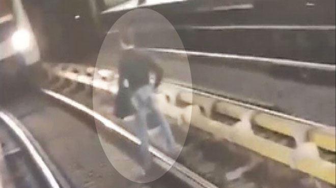 ANGOISSE à la station de métro De Brouckère à Bruxelles- un homme descend sur les rails et attend la rame sous le regard médusé des usagers (vidéo) 1