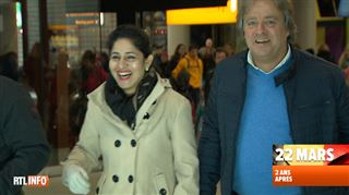 L'hôtesse de l'air, dont la photo avait fait le tour du monde après les attentats de Bruxelles, recherche l'un de ses sauveteurs - J'aimerais le revoir 4