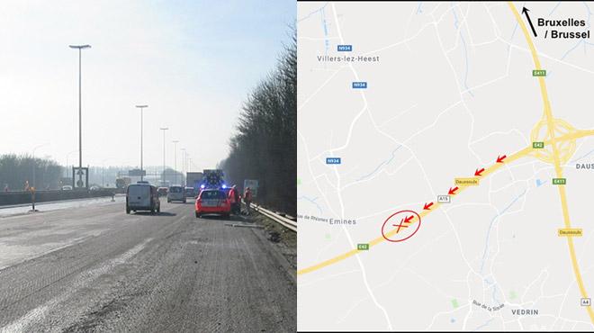 Accident et délit de fuite à Daussoulx le 3 mars à 14h: avez-vous vu le camion responsable?