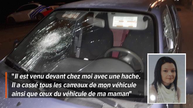 L'ex de Sabrina détruit sa voiture à coups de hache et est libéré 12 heures plus tard: