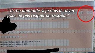 Vous êtes nombreux à avoir reçu une facture de 0€ de la part de la clinique de Gosselies- non, il n'y aura pas de frais de rappel... 4