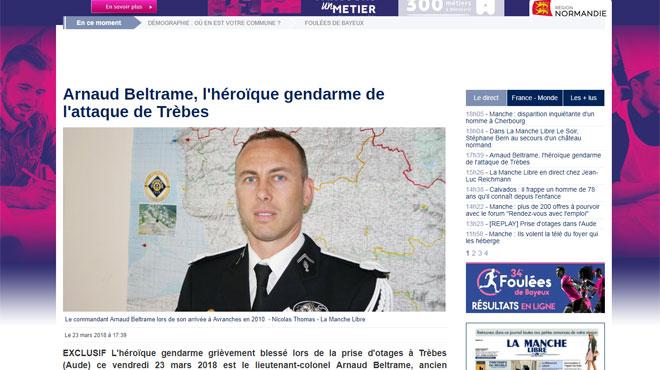 Prise d'otages dans un supermarché en France: Arnaud, 45 ans, gendarme héroïque qui a échangé sa place contre celle d'un otage