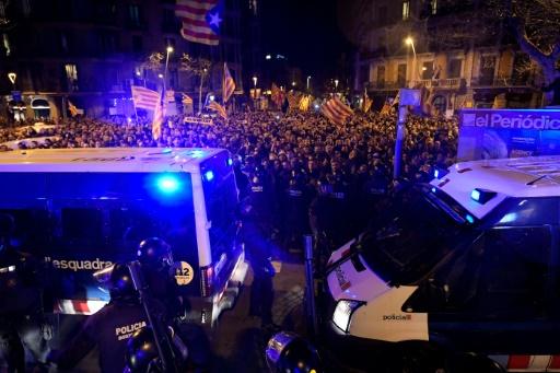 Catalogne: manifestations après l'incarcération de dirigeants indépendantistes