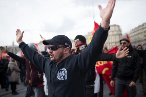Manifestation à Marseille contre l'implantation du groupe d'extrême droite Bastion social