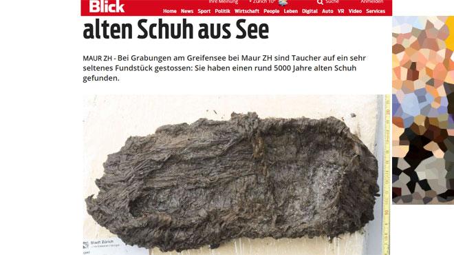Découverte rarissime en Suisse d'une chaussure du Néolithique
