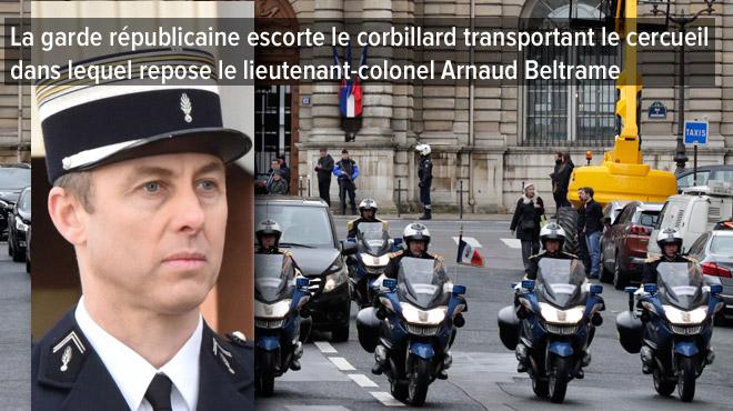Un hommage national rendu au gendarme héroïque Arnaud Beltrame