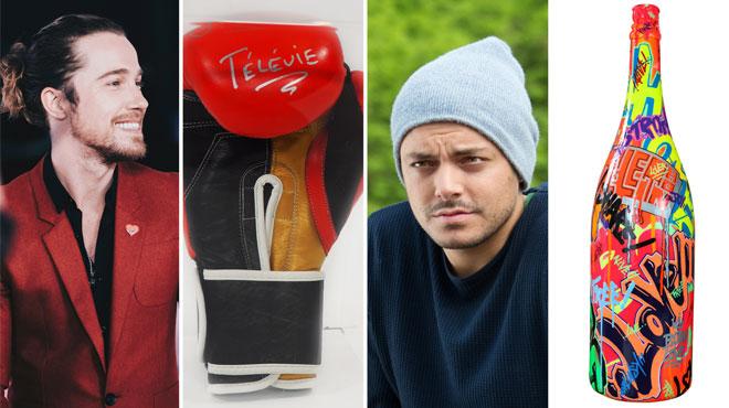 Le ukulélé de Julien Doré, le gant de boxe de Jean-Claude Van Damme... Voici les objets mis aux enchères pour le Télévie