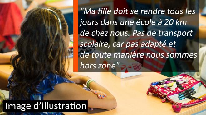 Morgane, 7 ans, est autiste et ne peut se rendre dans son école spécialisée car aucun transport n'est organisé: