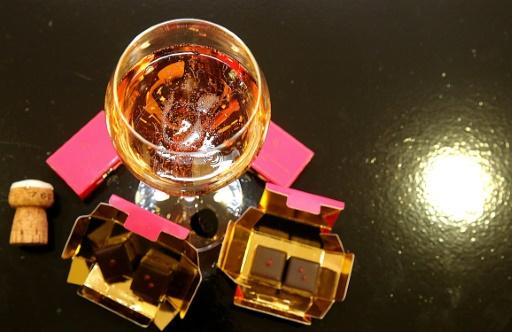 Entre le champagne et le chocolat, un mariage