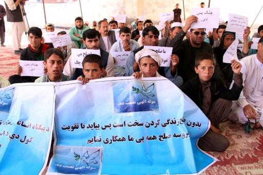 Afghanistan: sit-in pour la paix dans le Helmand