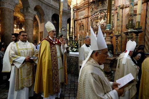 Jérusalem: au Saint-Sépulcre, les chrétiens célèbrent la résurrection du Christ