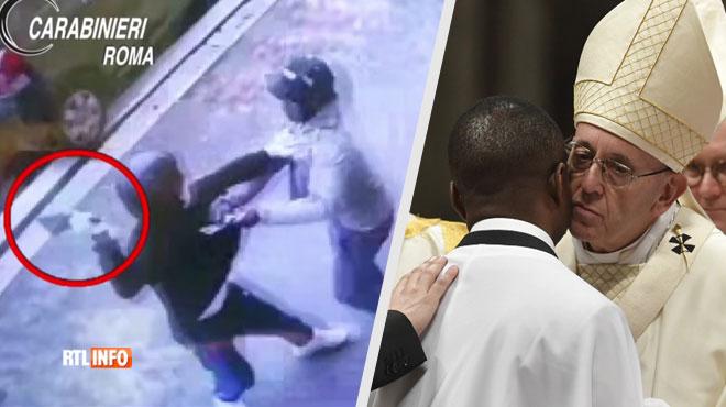 Migrant nigérian, John a arrêté un braqueur armé en Italie: il vient d'être baptisé par le pape en personne