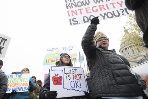 USA: des milliers d'enseignants manifestent pour l'école publique