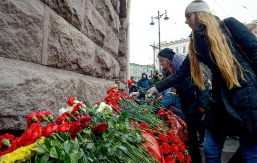 La Russie se recueille un an après l'attentat du métro de Saint-Pétersbourg