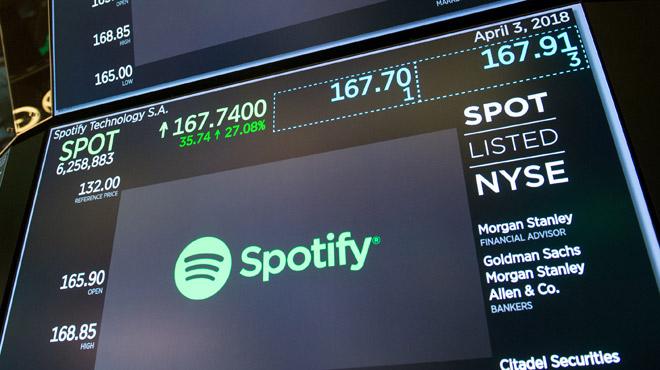 Spotify entre en bourse et devient une... licorne