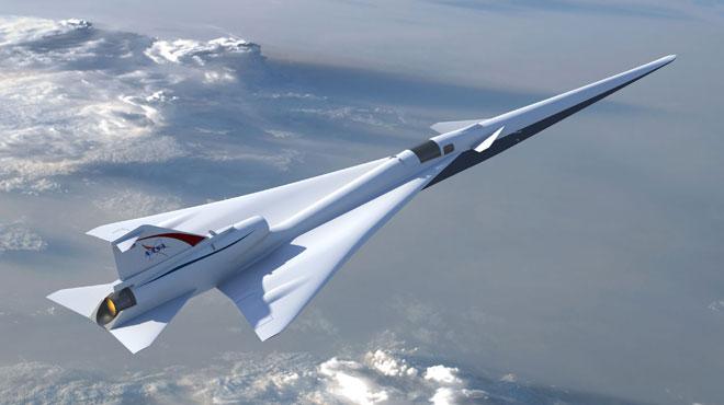 La Nasa veut passer le mur du son sans bruit grâce à un avion supersonique: bientôt des vols plus courts pour aller à l'autre bout du monde?