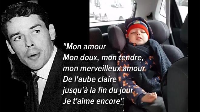 ATTENDRISSANT: Adam, petit Bruxellois de 4 ans, aime chanter du Brel dans la voiture (vidéo)