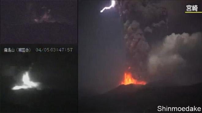 Ce volcan japonais projette un nuage de cendres à 5 km de hauteur, des éclairs apparaissent (vidéo)