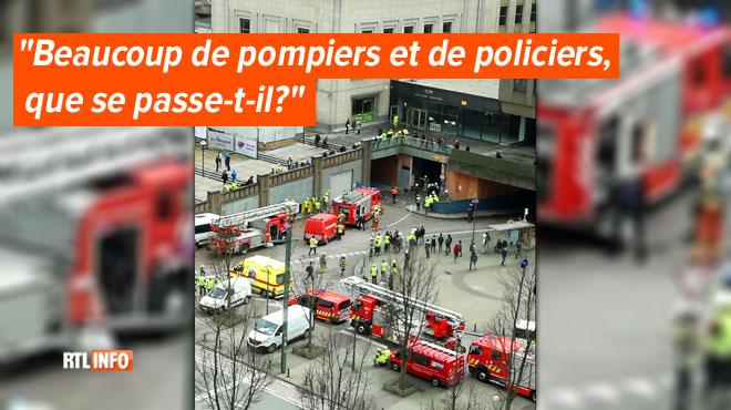 Les pompiers se déplacent en masse à la gare de Bruxelles-Nord: pas d'incendie, mais un dégagement de fumée durant des travaux
