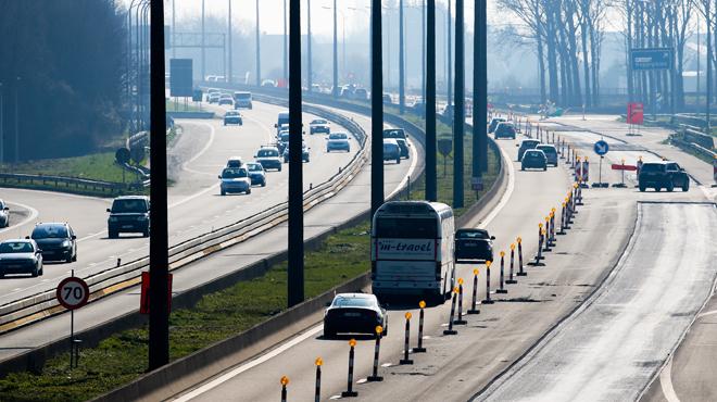 Changement de circulation prévu dès dimanche sur l'autoroute E42/A15