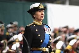 La princesse Anne d'Angleterre à Zeebruges le 21 avril, pour le centenaire de la Première Guerre mondiale