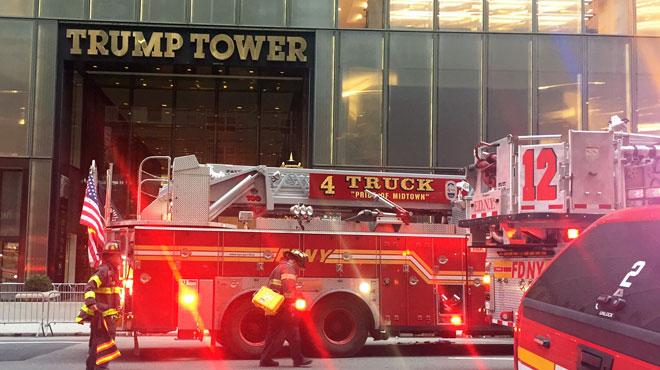 New York: un mort et quatre pompiers blessés dans un incendie à la Trump Tower