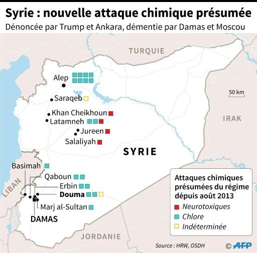 Syrie: les utilisations d'armes chimiques dans le conflit