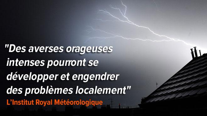 Après le soleil, les météorologues annoncent de la pluie et de l'orage sur la Belgique