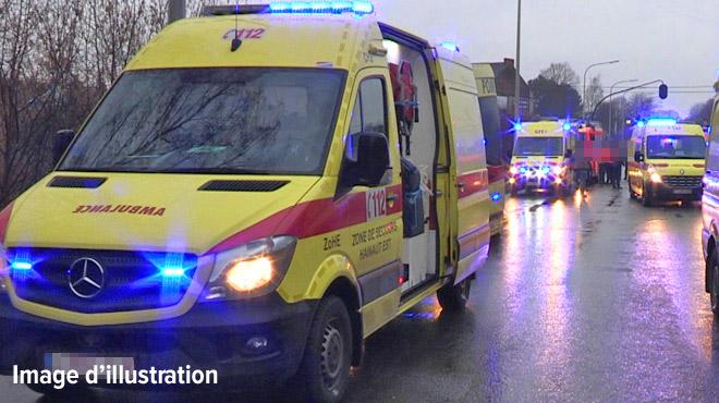 Terrible collision frontale à Tournai: quatre blessés ont été désincarcérés
