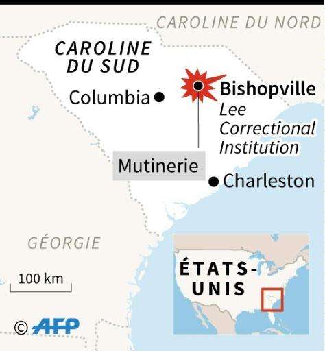Etats-Unis: 7 morts et 17 blessés dans une mutinerie dans une prison de Caroline du Sud