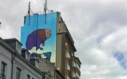 Une fresque signée Bozko voit le jour dans le quartier Sainte-Catherine à Bruxelles