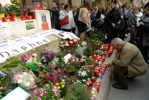 Hommages internationaux à la journaliste maltaise assassinée