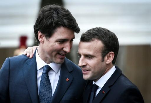 Trudeau à Paris pour vanter le Ceta à l'unisson de Macron