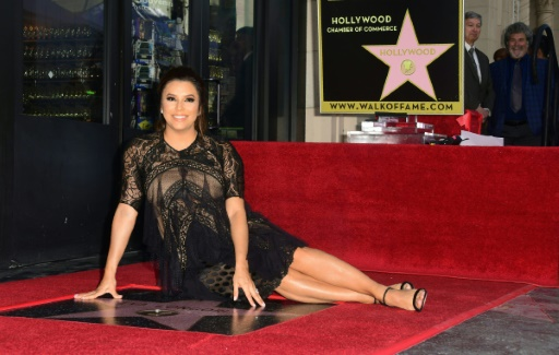 Eva Longoria reçoit son étoile à Hollywood:
