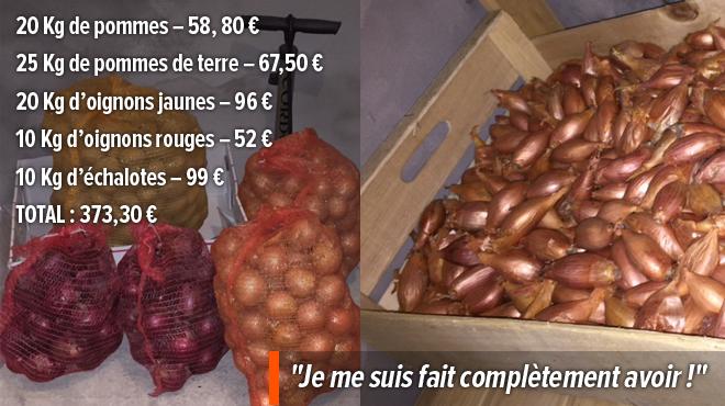 Elles ont acheté pour 300 et 400 euros de fruits et légumes à un vendeur en porte-à-porte: