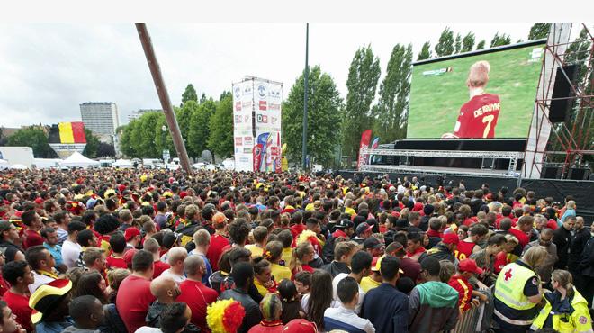 Pas d'écran géant pour le Mondial dans le centre de Bruxelles, mais deux autres lieux sont déjà prévus