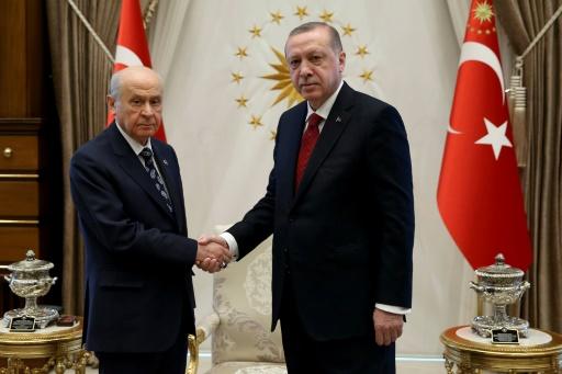 Erdogan parle élections anticipées avec son allié nationaliste