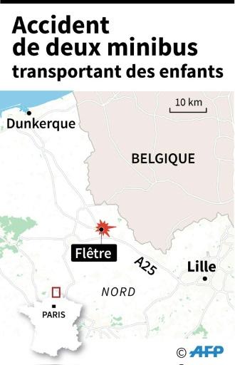 Nord: accident de deux minibus transportant des enfants handicapés, 13 blessés