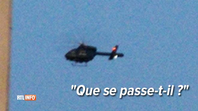 Des habitants de Bruxelles s'inquiètent de la présence d'un hélicoptère de la police: