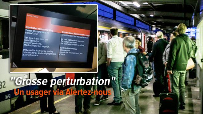Un train dépasse un feu rouge à Braine-l'Alleud: tous les trains P sont supprimés entre Bruxelles et Charleroi