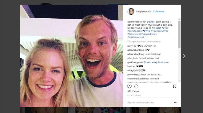 Kelly, fan d'Avicii, a croisé la route du DJ il y a 6 jours à Oman: elle a immortalisé cet incroyable moment